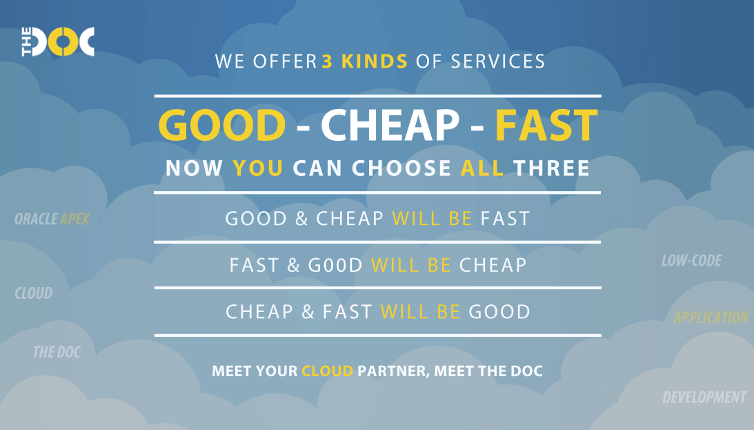 Good, Cheap, Fast: pick all three! - The DOC